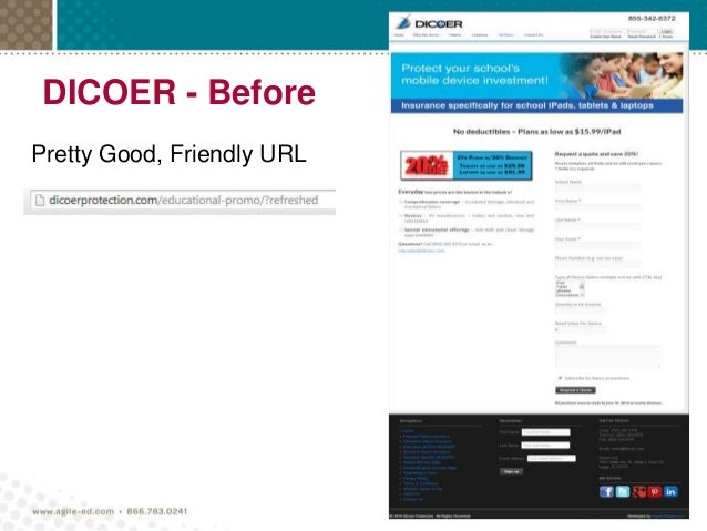 DICOER - Before Pretty Good, Friendly URL