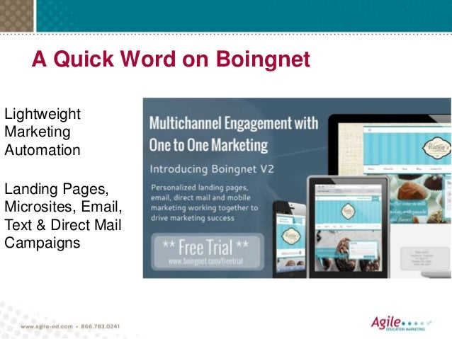 A Quick Word on Boingnet Lightweight Marketing Automation Landing Pages, Microsites, Email, Text & Direct Mail Campaigns