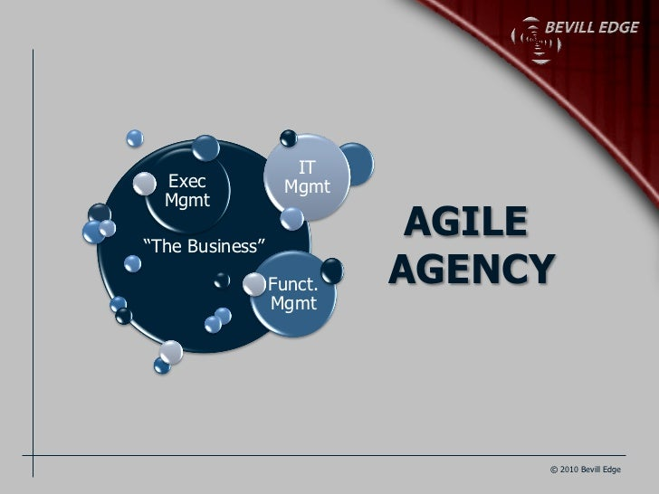 "IT  Exec            Mgmt  Mgmt""The Business""                           AGILE                 Funct.   AGENCY              ..."