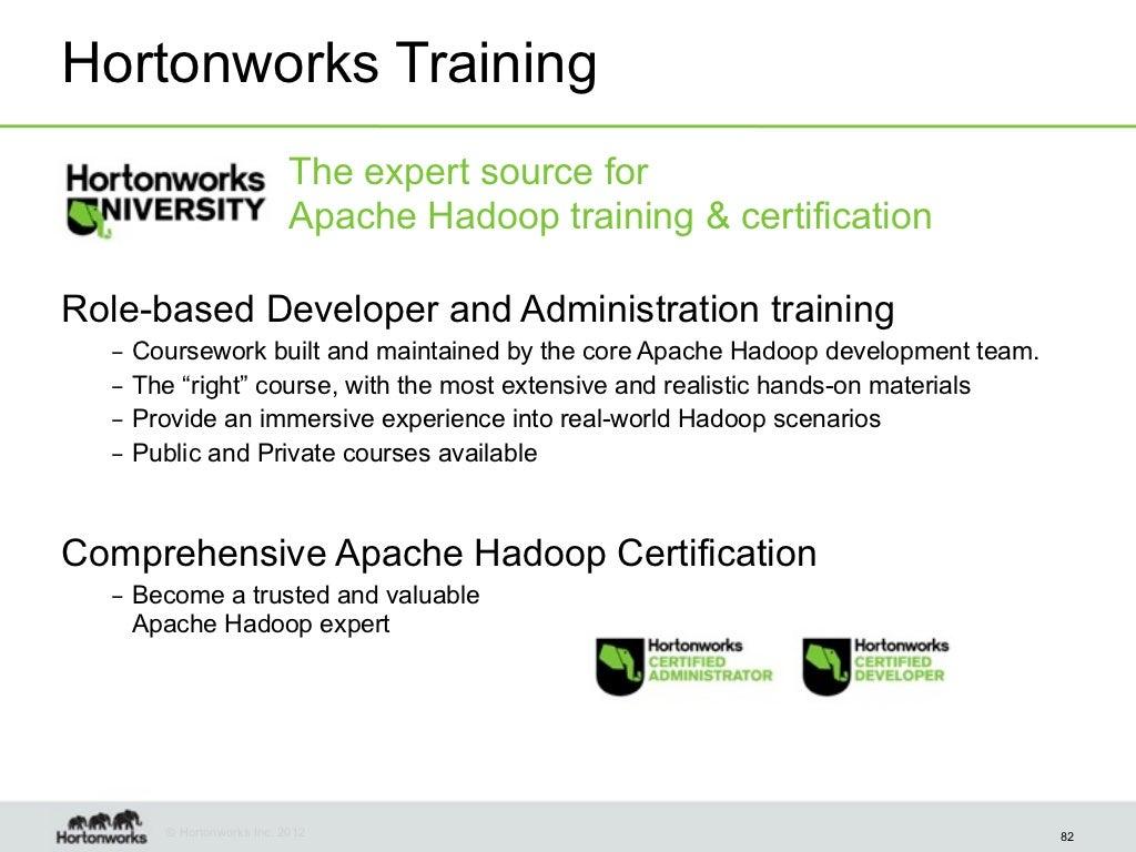 Hortonworks Training The Expert Source