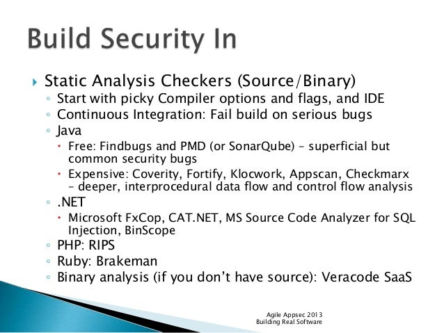 Agile Appsec Why We Suck At Building Secure Software And