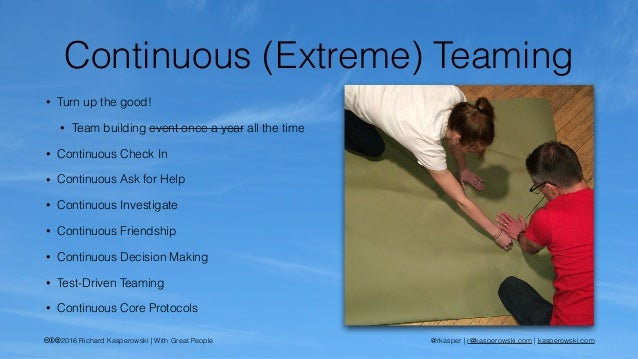 Awesome Teams: Games for Continuous (Extreme?) Teaming at ...