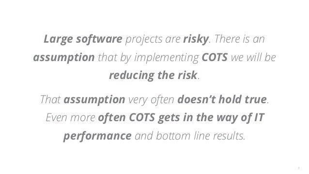 Agile Australia 2017 Hypothesis-Driven COTS Software Selection Tiago Griffo Slide 3