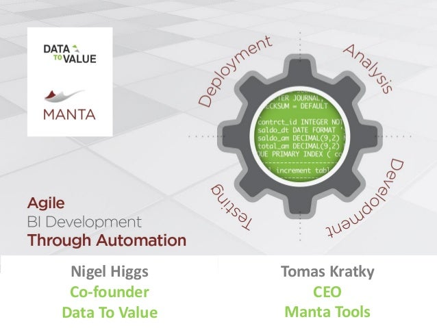 Tomas Kratky CEO Manta Tools Nigel Higgs Co-founder Data To Value