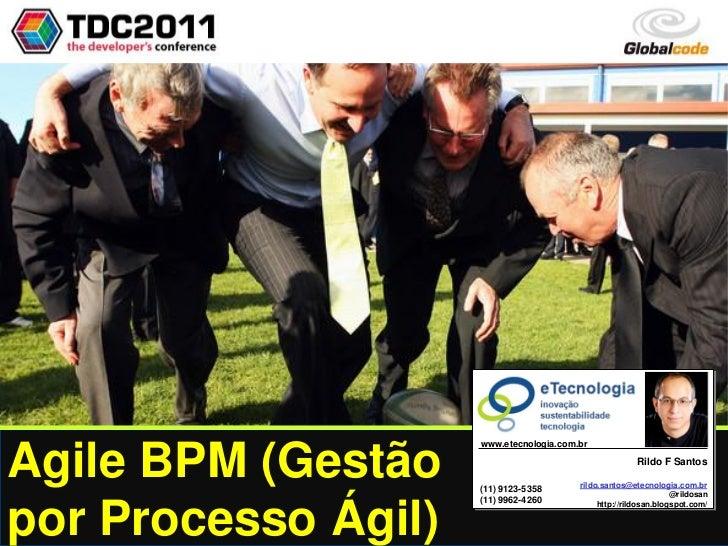 Agile BPM (Gestão por Processo Ágil)                                                                                      ...