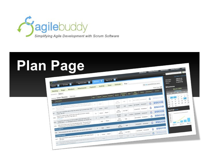 Simplifying Agile Development with Scrum Software     Plan Page