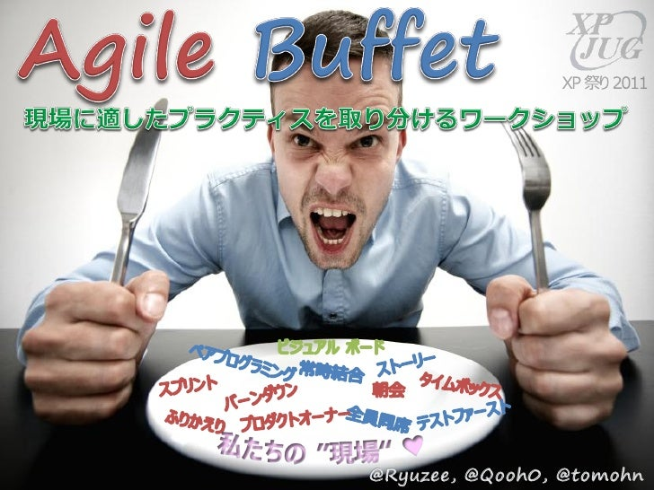 http://www.scrumgatheringtokyo.orgJeff PattonCommon Agile Practice takes the best from the buffet          Specific proces...