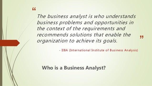 Agile business analyst Slide 3