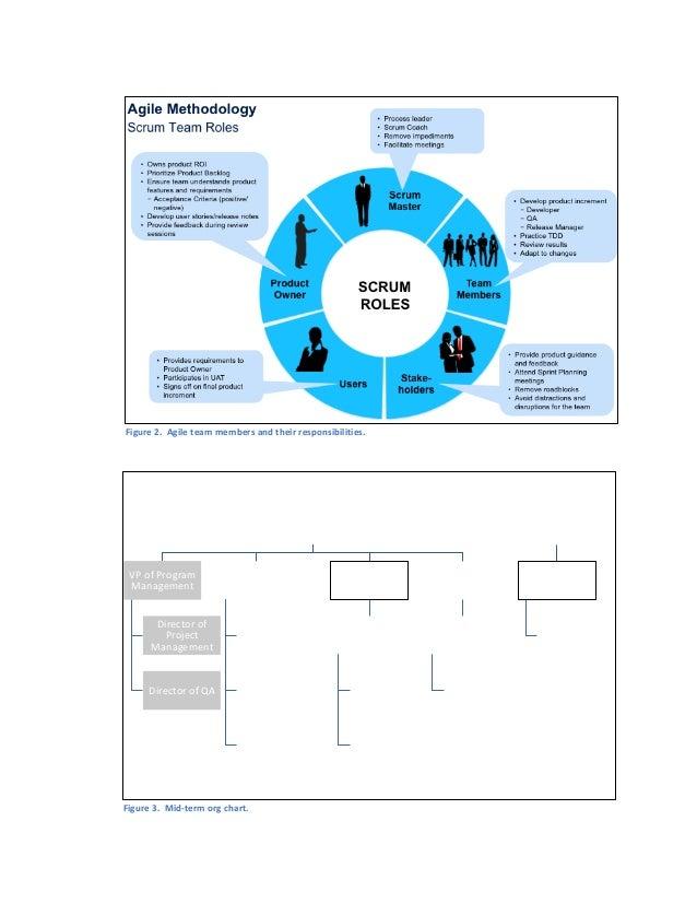 Figure2.Agileteammembersandtheirresponsibilities.   Figure3.Mid-termorgchart. CIO VPofProgram Manage...