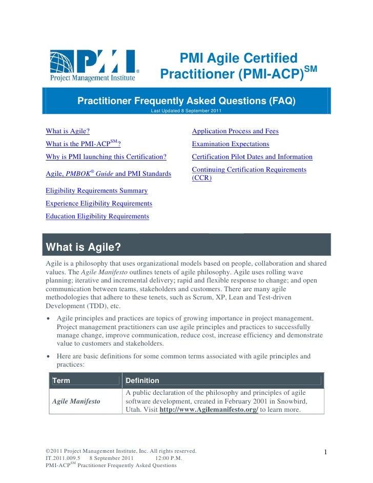 PMI AAgile Certif                                                              fied                                       ...