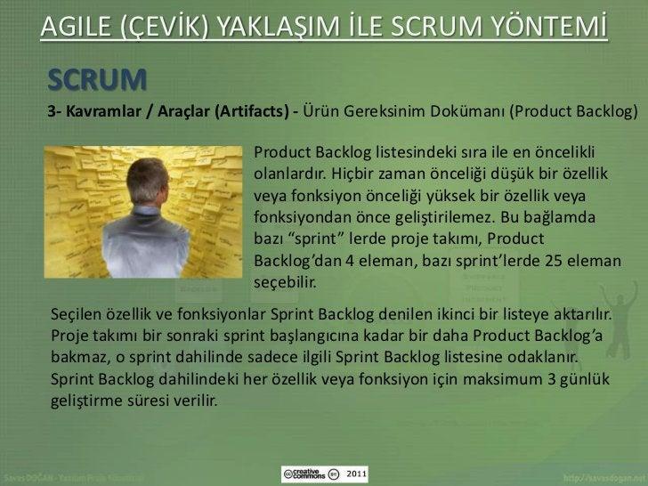 AGILE (ÇEVİK) YAKLAŞIM İLE SCRUM YÖNTEMİSCRUM3- Kavramlar / Araçlar (Artifacts) - Ürün Gereksinim Dokümanı (Product Backlo...