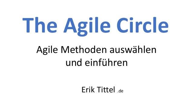 The Agile Circle Agile Methoden ausw�hlen und einf�hren Erik Tittel .de