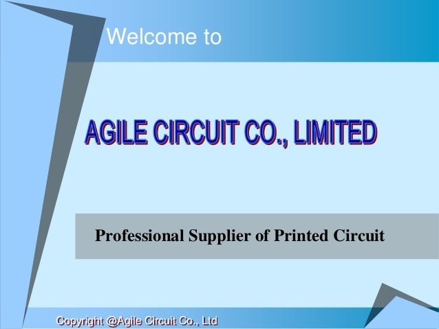 Welcome to Professional Supplier of Printed Circuit Copyright @Agile Circuit Co., Ltd