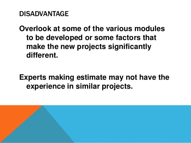 DISADVANTAGE Overlook at some of the various modules to be developed or some factors that make the new projects significan...