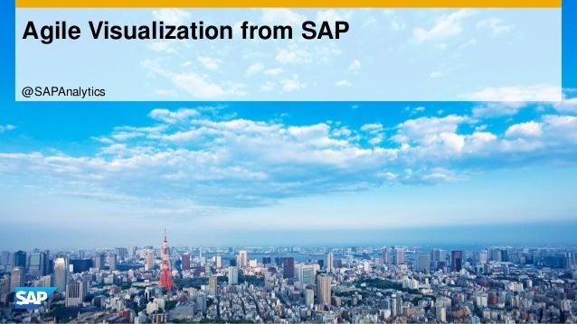 Agile Visualization from SAP @SAPAnalytics