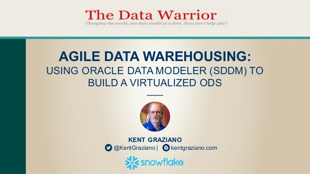 KENT  GRAZIANO @KentGraziano  |                kentgraziano.com AGILE  DATA  WAREHOUSING:   USING  ORACLE  DATA  MODELER  ...