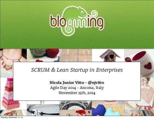 SCRUM & Lean Startup in Enterprises  Nicola Junior Vi!o - @njvi!o  Agile Day 2014 - Ancona, Italy  November 15th, 2014  Mo...