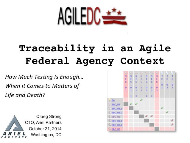 1	    Traceability in an Agile