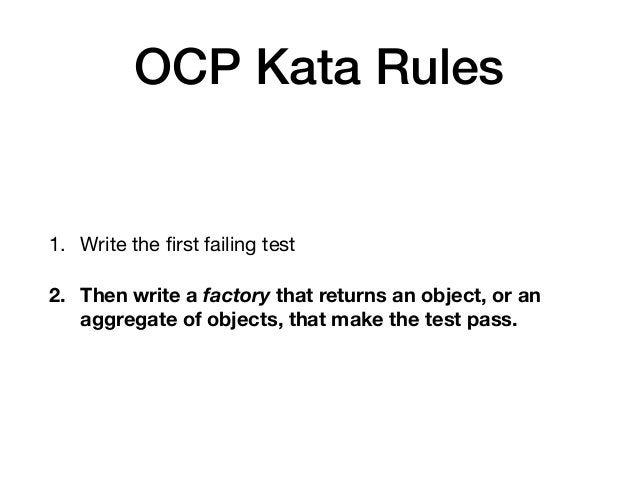 The factory should be limited to creating objects and linking them together. No conditionals allowed.