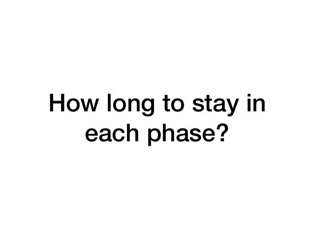 How long to stay in each phase?