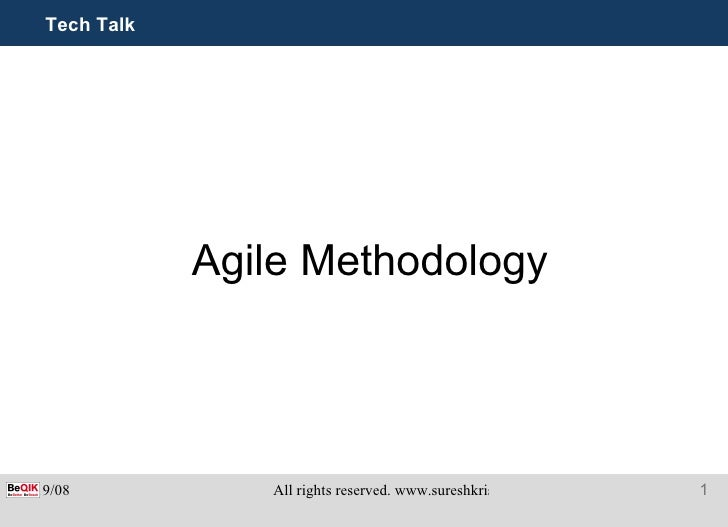 Tech Talk Agile Methodology
