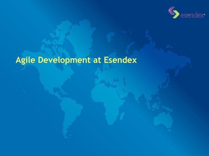 Agile Development at Esendex