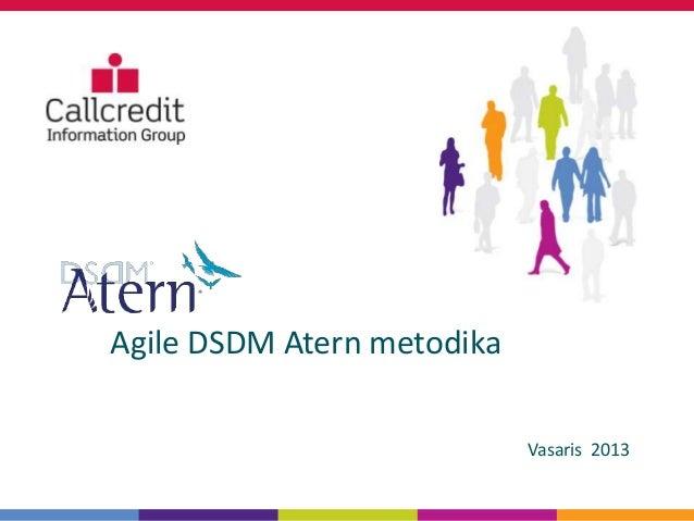 Agile DSDM Atern metodika                            Vasaris 2013