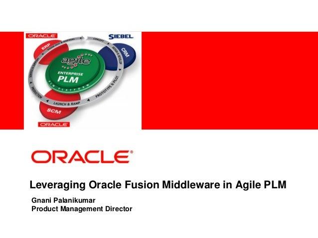 <Insert Picture Here>Leveraging Oracle Fusion Middleware in Agile PLMGnani PalanikumarProduct Management Director