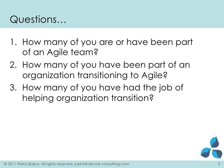 Agile Eastern Europe 2011 Large Scale Agile Transformation Slide 3