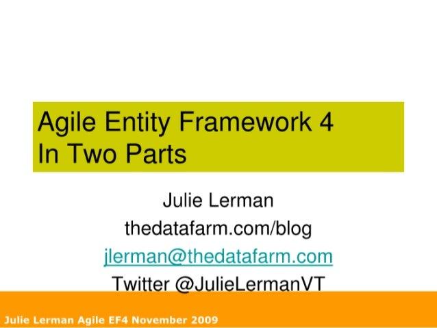 AgileEntity Framework 4