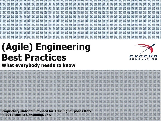 Proprietary Material Provided for Training Purposes Only © 2012 Excella Consulting, Inc.