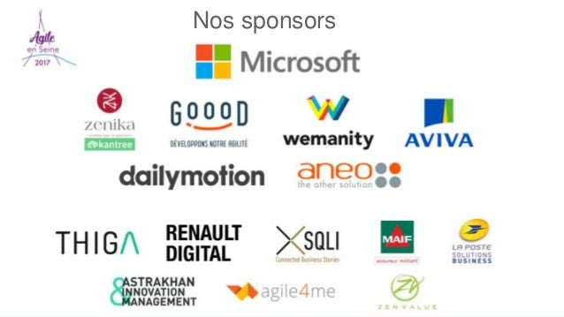 REX Player Agile en Seine Nos sponsors