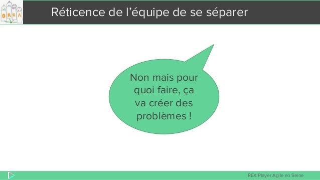 REX Player Agile en Seine Réticence de l'équipe de se séparer Non mais pour quoi faire, ça va créer des problèmes !