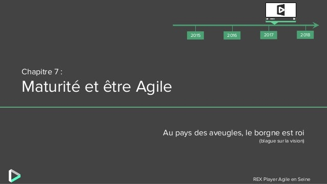 REX Player Agile en Seine Chapitre 7 : Maturité et être Agile Au pays des aveugles, le borgne est roi (blague sur la visio...