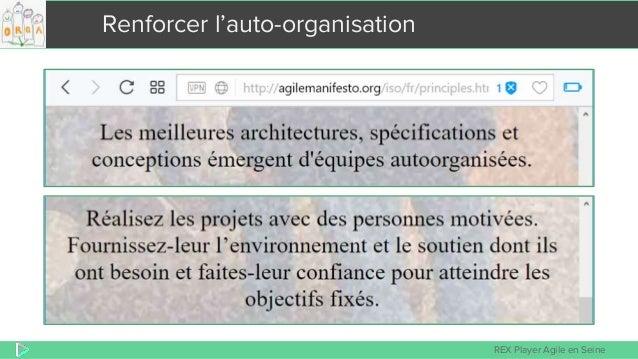 REX Player Agile en Seine Renforcer l'auto-organisation