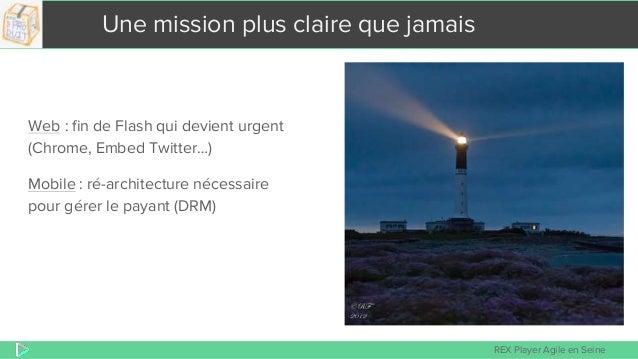 REX Player Agile en Seine Une mission plus claire que jamais Web : fin de Flash qui devient urgent (Chrome, Embed Twitter…...