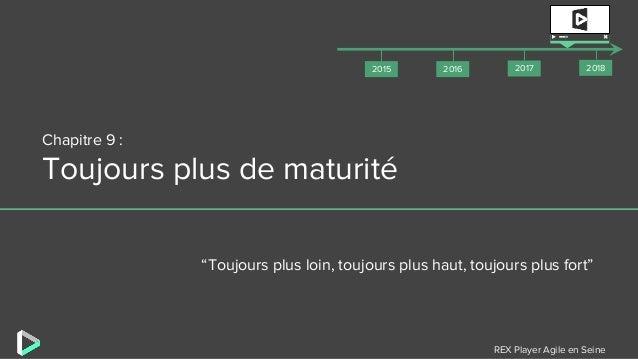 """REX Player Agile en Seine Chapitre 9 : Toujours plus de maturité """"Toujours plus loin, toujours plus haut, toujours plus fo..."""
