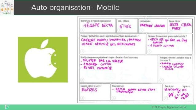 REX Player Agile en Seine Auto-organisation - Mobile