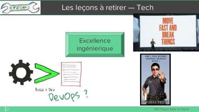 REX Player Agile en Seine Les leçons à retirer — Tech Excellence ingénierique Build > Dev
