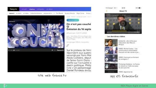 REX Player Agile en Seine site web france.tv app iOS franceinfo
