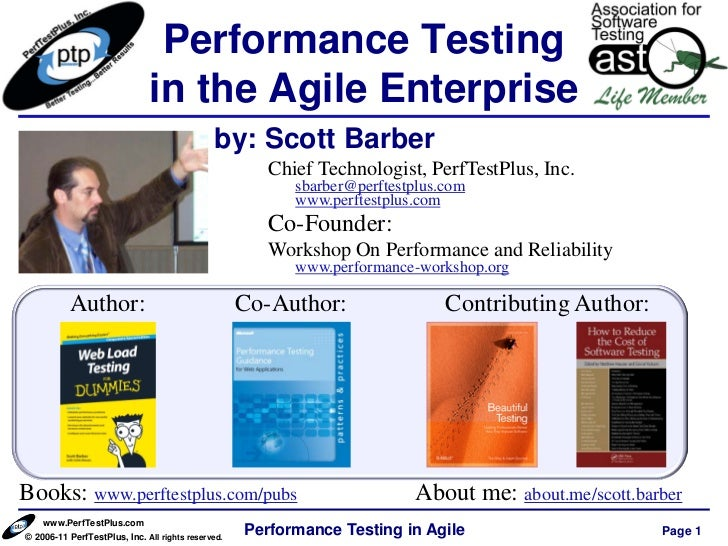 Performance Testing                              in the Agile Enterprise                                              by: ...