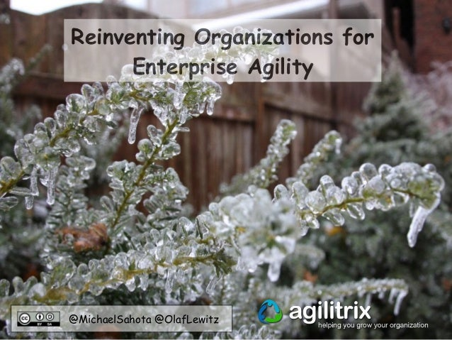 @MichaelSahota @OlafLewitz Reinventing Organizations for Enterprise Agility