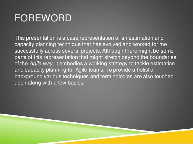 Agile Estimation & Capacity Planning Slide 2