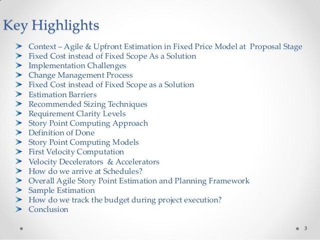 Agile Estimation for Fixed Price Model Slide 3