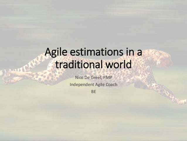 Agile estimations in a traditional world Nico De Greef, PMP Independent Agile Coach BE