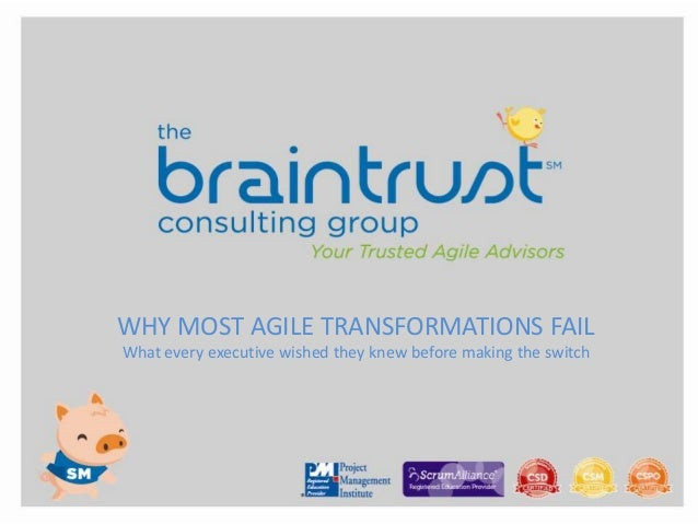 Agile ExecutivesAgile Executives WHY MOST AGILE TRANSFORMATIONS FAIL What every executive wished they knew before making t...