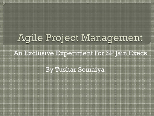 An Exclusive Experiment For SP Jain Execs By Tushar Somaiya