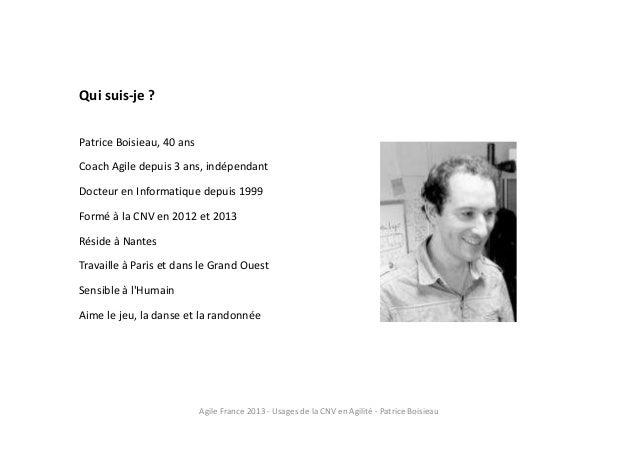 Usages de la CNV en agilité Slide 2