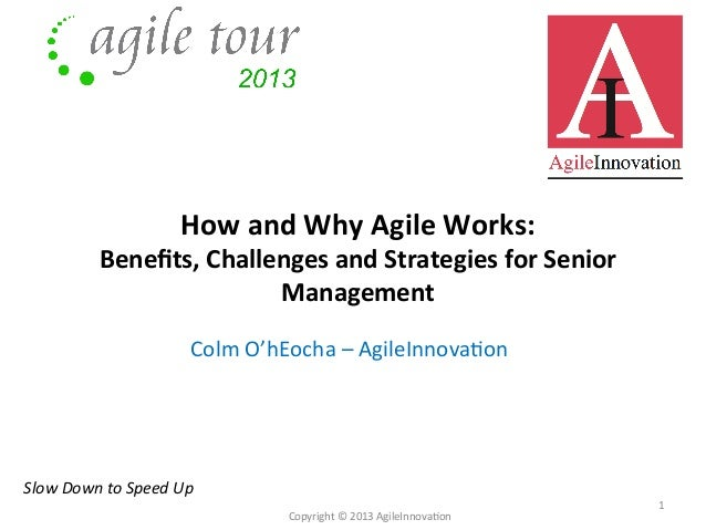 How	   and	   Why	   Agile	   Works:	   	     Benefits,	   Challenges	   and	   Strategies	   for	   Senior	    Management	...