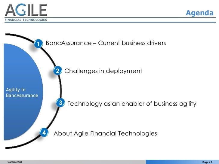 Making BancAssurance Agile - 4th Annual BancAssurance Conference Slide 2
